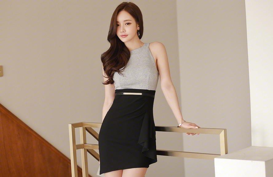 韩国超短职业装美腿美女